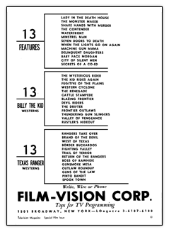 Film Vision advert 1950
