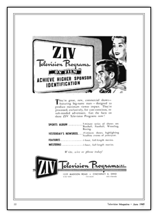 Ziv Television Programs advert